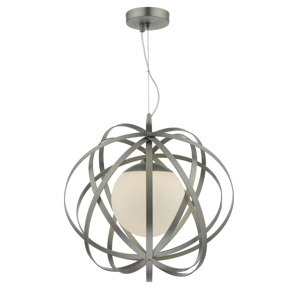 ABRAHAM 1LT PENDANT SAT CHR (Class 2 Double Insulated) BXABR0146-17